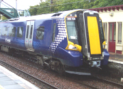 Class 380 EMU at Drem on its first day